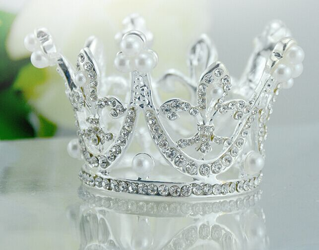 Cute Mini Circle Round Rhinestone Hair Crown, Kids Bridal Princess Designs Wedding Hair Crown Tiaras(China (Mainland))
