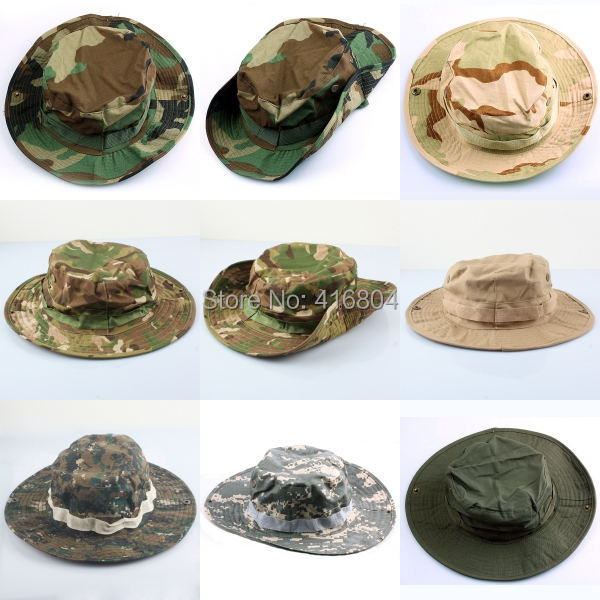Woman Men's Military Army Military Boonie Bush Woodland Sun Bonnet Camo Outdoor Cap for Fishing(China (Mainland))