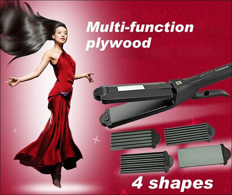 New 2014 hair straightener 4 shapes 3in 1 Fashion prancha straightening irons flat iron Curling Iron 110~240V Free Shipping<br><br>Aliexpress