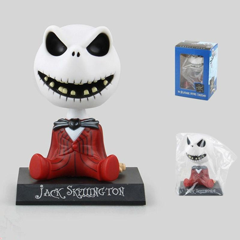 11cm The Nightmare Before Christmas Funko Pop Jack Wacky Wobbler Bobble Head PVC Action Figure Model Toy Car Decoration Doll(China (Mainland))