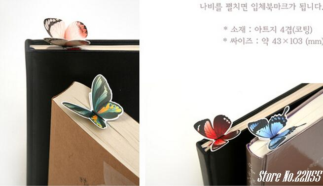 2015 Hot sale 14PCS/set 3D Butterfly Bookmarks For Beautiful Birthday Gift bookmark cute Gift free shipping(China (Mainland))