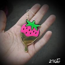 212E   Sweet Strawberry Fashion Acrylic Earrings For Cute Girl