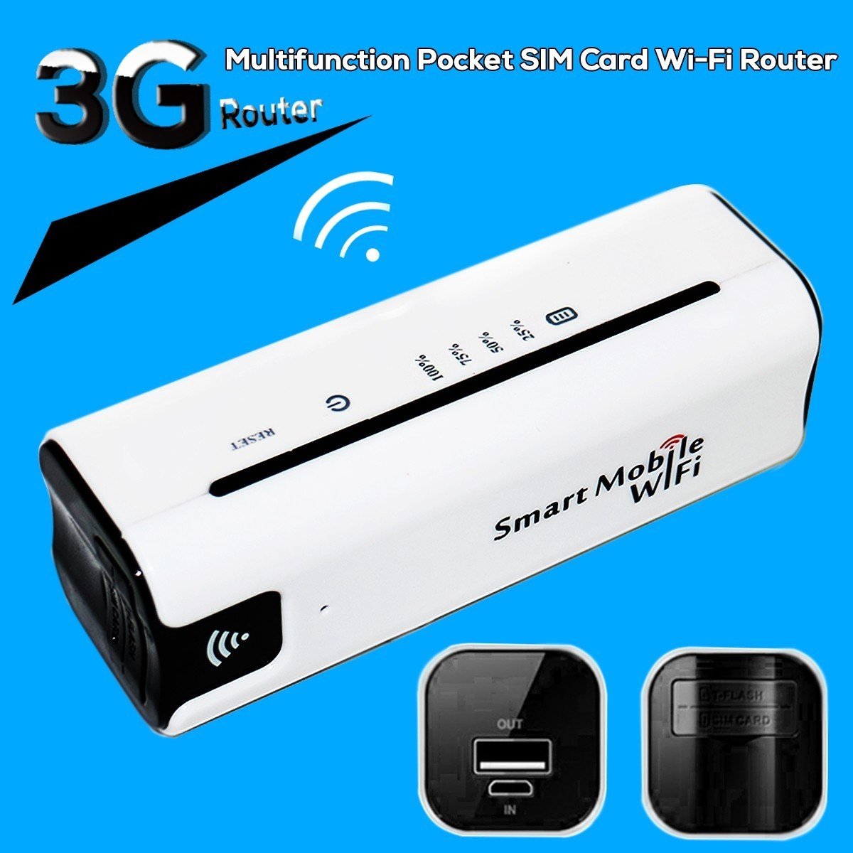 New 3G Mobile Portable Multifunctional Mini Wireless Power Bank Battary Charger 3G WiFi Router(China (Mainland))