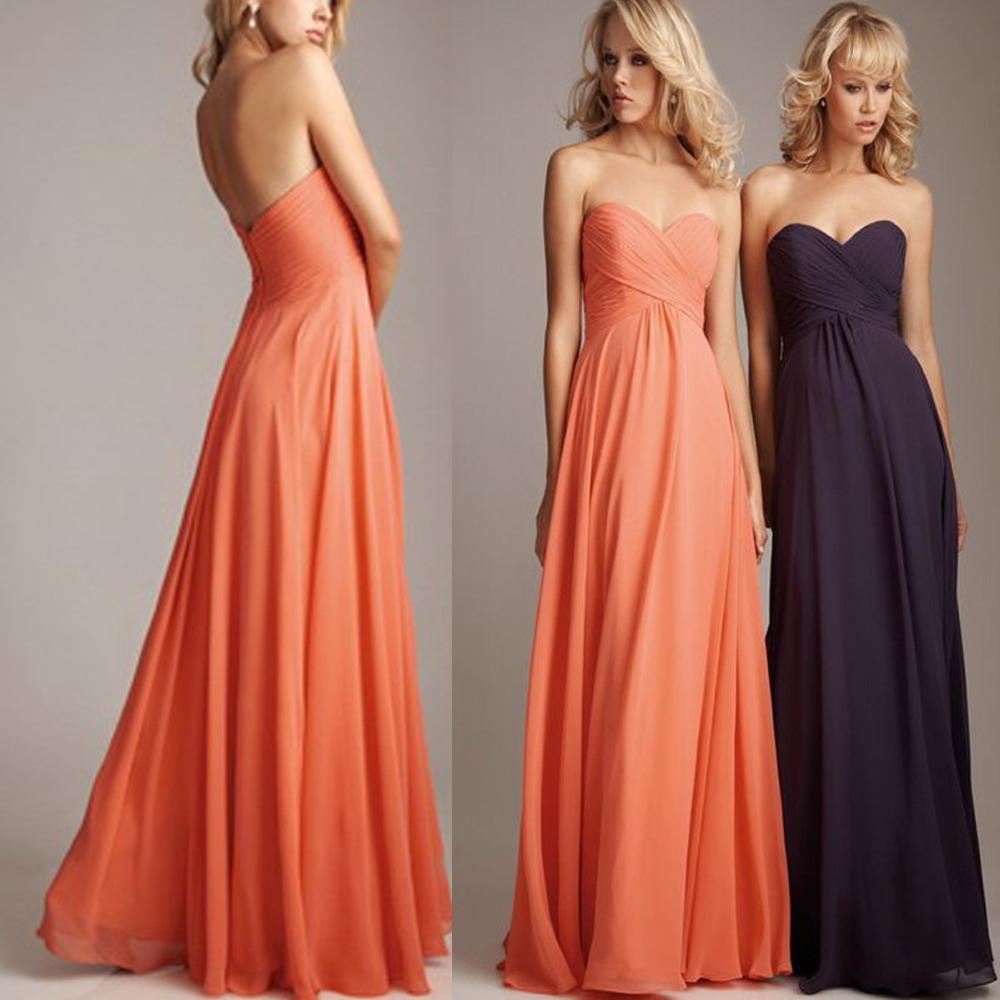Plus Size Coral Colored Bridesmaid Dresses Long Chiffon Wedding Guest Dresses Purple Green Blue