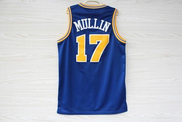 State Chris Mullin 17 Jersey, Latrell Sprewell 15 Jersey, Blue Mesh Jersey, Cheap Basketball Jerseys S-3XL Free Shipping 968(China (Mainland))