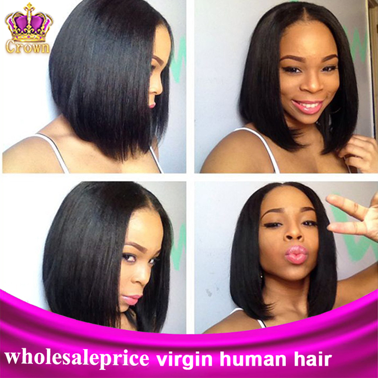 Malaysian virgin hair straight hair extension 100% human hair 3 or 4pcs/lot mixed length 8