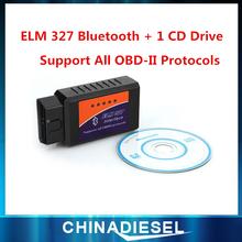 Горячая распродажа ELM327 Bluetooth OBD2 сканер CAN-BUS сканер инструмент вяз 327 сканирования инструмент экю чип Tunning ECU