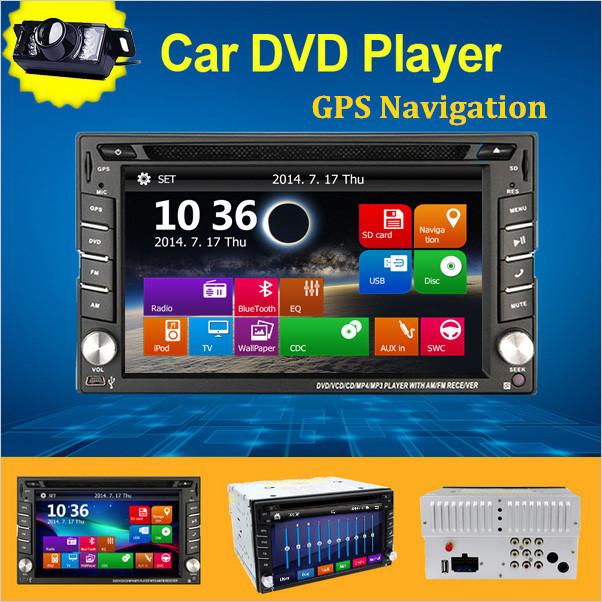 Newest WinCE 8.0UI 6.2inch Touch Screen 2Din Radio GPS Navigation Car DVD headunit Player Video Bluetooth,IPod,FM/AM+Free Camera(China (Mainland))