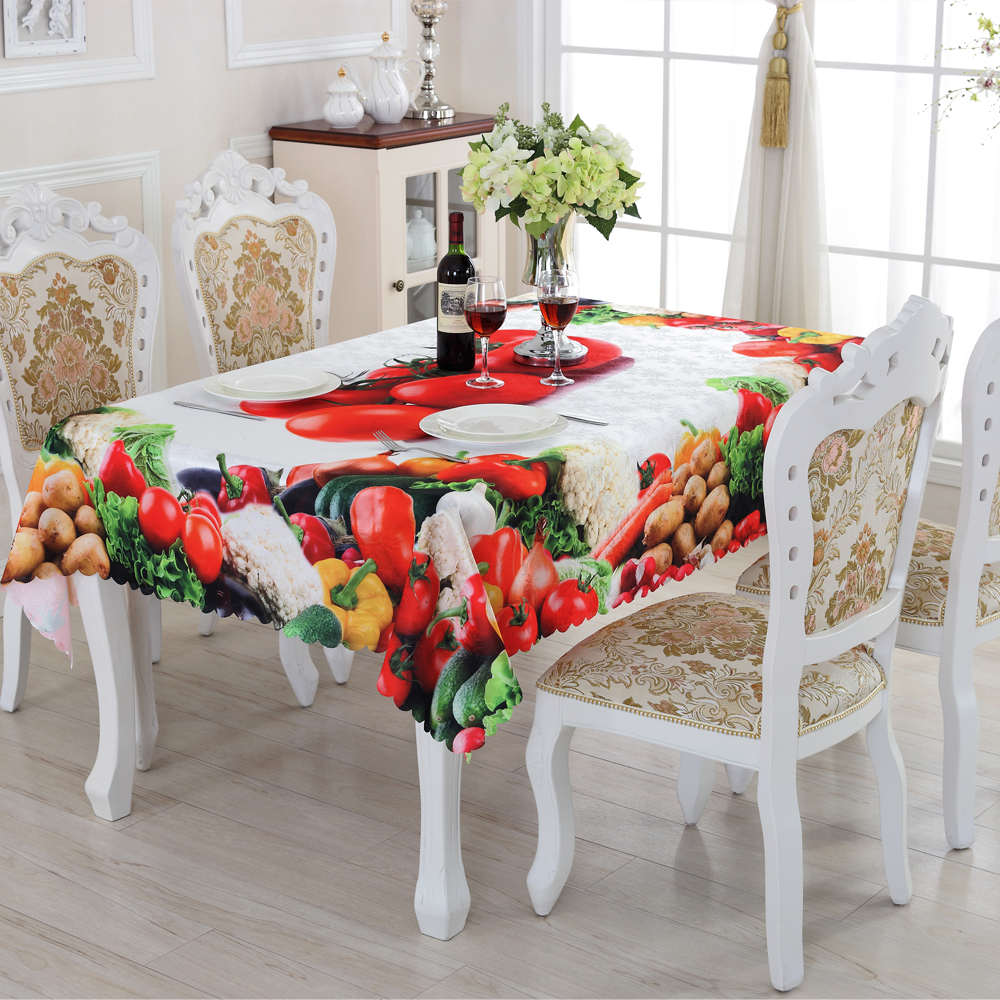 2016 New Rectangular Tablecloths Fruit Pattern High Quality Practical Household Goods Table Cloth Acceptable Custom ZS-7(China (Mainland))