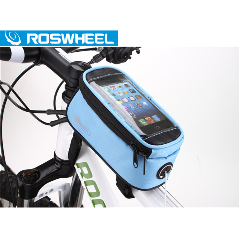 Roswheel Cycling Bike Bag Bicycle Phone Pouch Waterproof Outdoor Case Sport Cycle Bags 5.5 Inch Large Size Durable Hot Sale(China (Mainland))
