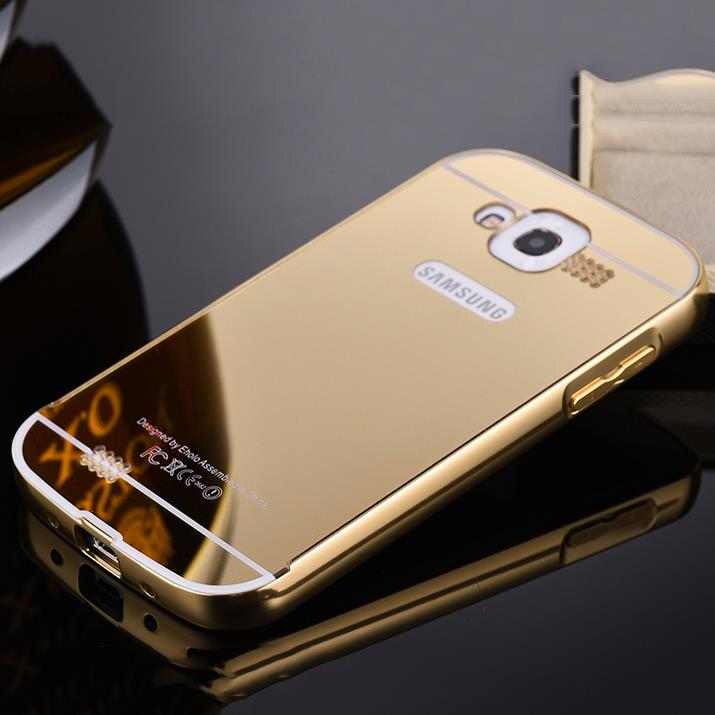 Metal Aluminum Frame & Electroplating PC Back Cover Case For Samsung Galaxy Grand Duos i9080 i9082 Grand Neo Plus i9060 i9062