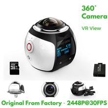 4K 360 Degree Action Video Camera Wifi Mini 2448*2448 16MP Ultra HD Panorama Camera 3D Waterproof Sport Driving VR Camera(China (Mainland))