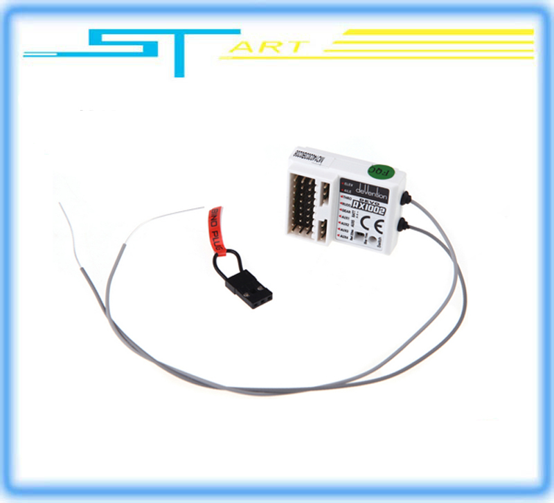Free shipping rc Walkera DEVO RX1002 Devention 10CH 2 4GHz White RC Receiver for Walkera Transmitter