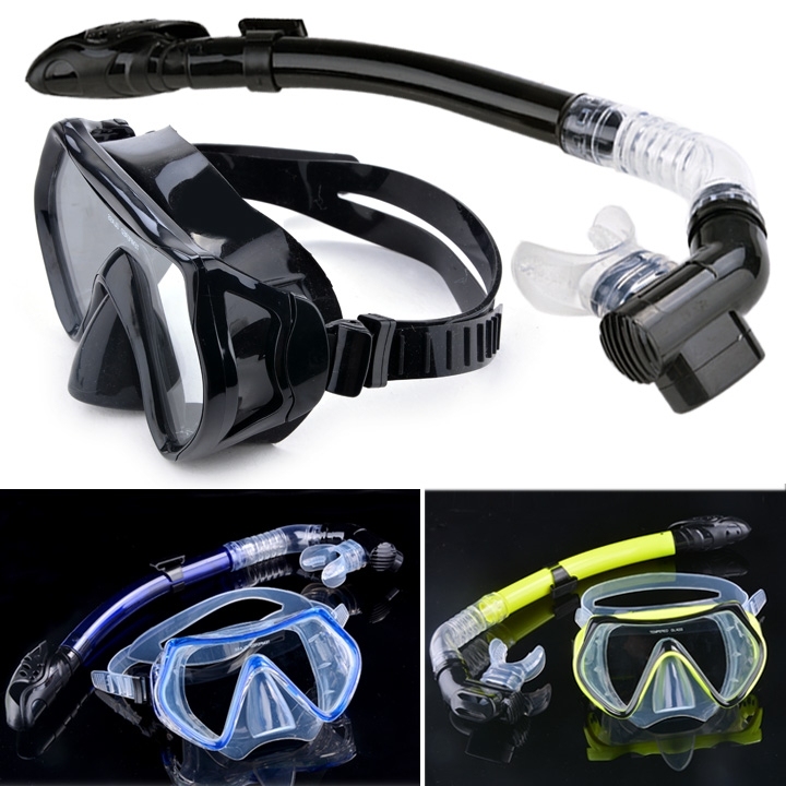 Scuba Diving - Diving Mask Snorkel Glasses Set Silicone Swimming Pool Equipment(China (Mainland))