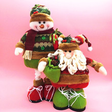 Christmas elderly snowman Christmas scene telescopic props decorative Christmas items(China (Mainland))