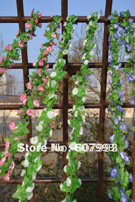 Simulation house decor flowers greenery plant ,artificial silk ivy,faux fabric vine,100pcs/lot, Express free shipping(China (Mainland))