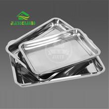 1 Pc Thick Stainless Steel Storage Trays Dishes Plate Barbecue Plate Rice Steel Trays Stainless Steel Storage Trays(China (Mainland))
