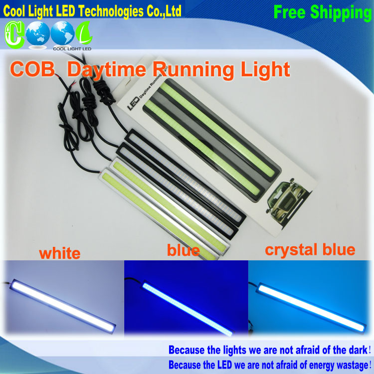 Ultra-thin 9W COB Chip LED Daytime Running Light,LED DRL Fog car lights,100% Waterproof,High Brightness,Super White<br><br>Aliexpress
