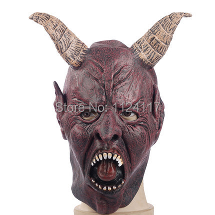 Halloween Masquerade Mask Horrorble Bull Demon Mask for Men Adult Party Masks Realistic Silicone Horns King Masks MS0004(China (Mainland))