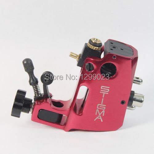 NHigh quality Professional Swiss Motor Stigma Bizarre Rotary Tattoo Machine Red Liner& Shader Top Free shipping(China (Mainland))