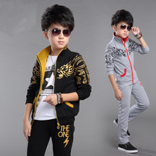 clothing set boys clothing children clothes child costume boy suits for sport clothes for boys set(China (Mainland))