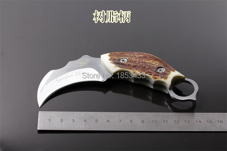 Buy 2015 Outdoor Karambit knife Hunting Knives Camping Tool Survival Tactical Knife Stainless steel scorpion claw knife freeshipping cheap