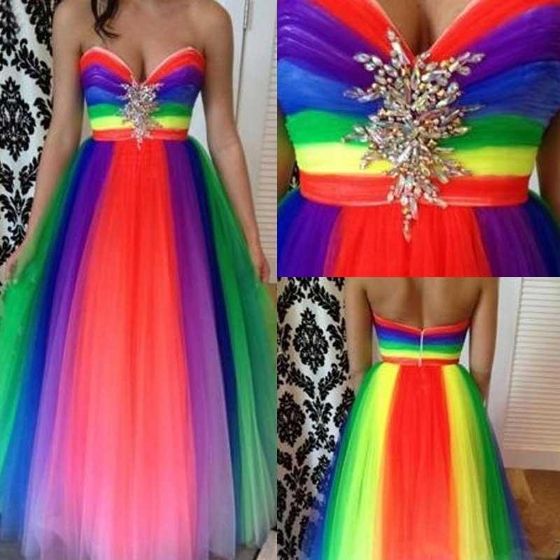 Plus Size Colorful Prom Dresses Plus Size Tops