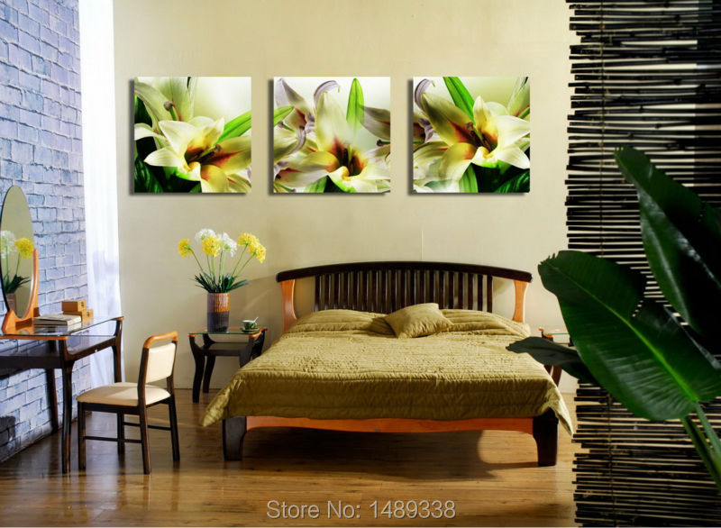 three panel art painting & calligraphy modern wall art living room decoration pictures print on canvas artwork painted T/596(China (Mainland))