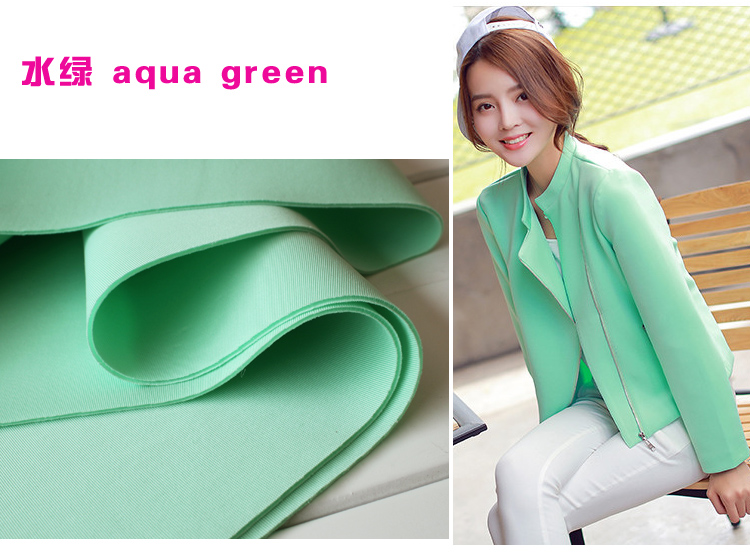 "aqua green interlayer spacer fabric, Spandex Fabric, knitted fabric, Skirt, jacket, suits, outfit. 60"" wide. Sold by the yard.(China (Mainland))"