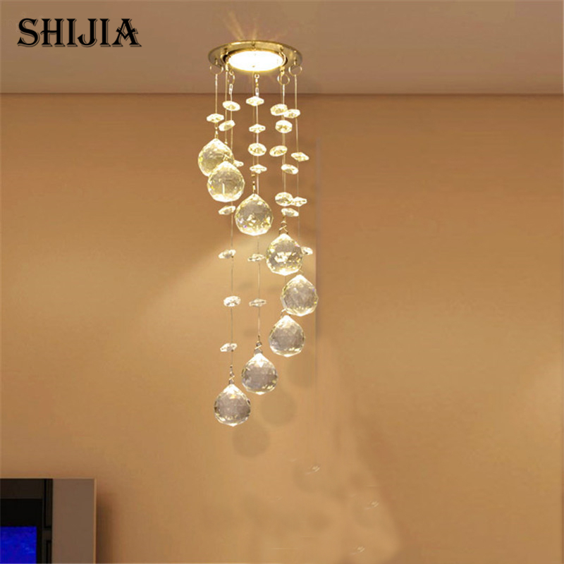 Modern Crystal Ceiling Light Fixture Spiral Crystal Lamp Crystal lustre Light fitting LED Lamp for Aisle Hallway Porch Staircase(China (Mainland))