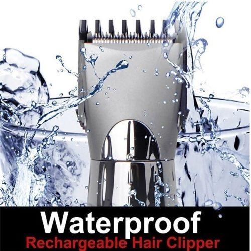10 шт/много Оптовая Водонепроницаемый Триммер для стрижки волос аккумуляторная электрическая мужская Борода Shaver_DHL