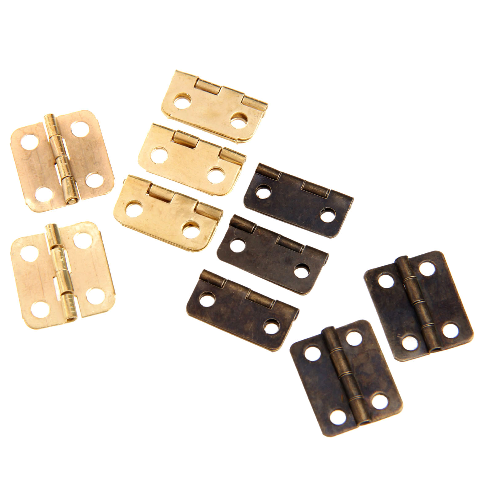 10Pcs Antique Bronze/Gold Cabinet Hinges Furniture Accessories Jewelry Boxes Small Hinge Furniture Fittings For Cabinets 16x13mm(China (Mainland))