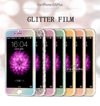 Luxury Bling Full Body Decal Glitter Back Film Sticker Case Cover for iphone 6 6 Plus 5 5s 4.7 5.5 inch Drop Shipping(China (Mainland))
