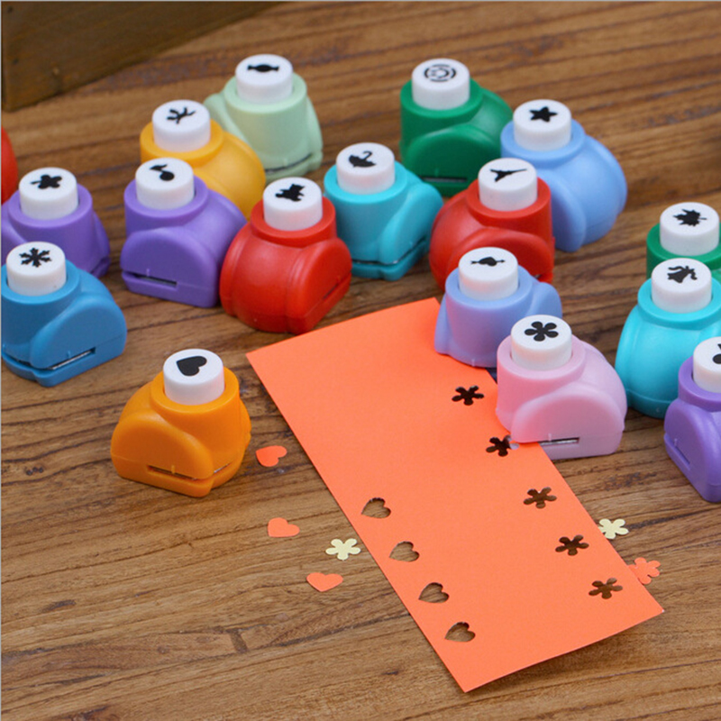 TANGHOME 10 pcs/lot Circle Animal Flower Punch DIY Craft Hole Puncher Kids Paper Card Cutter Scrapbooking Punch Embossing Device(China (Mainland))