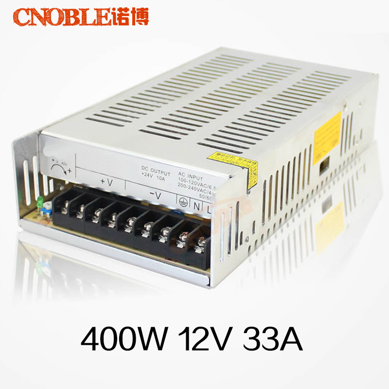 Best quality 12V 33A 400W Switching Power Supply Driver for LED Strip AC 100-240V Input to DC 12V <br><br>Aliexpress