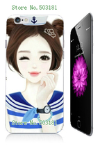 White Hard Phone Cases for iphone 6 6s Case GIRLS CARTOON Image Painted Mobile Phone Plastic Bags & Cases free shipping