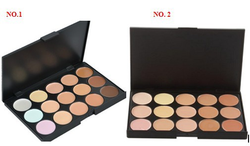 Hot, Professional 15 Colors Concealer Camouflage Makeup Neutral Palette, brighten face care cosmetic(China (Mainland))