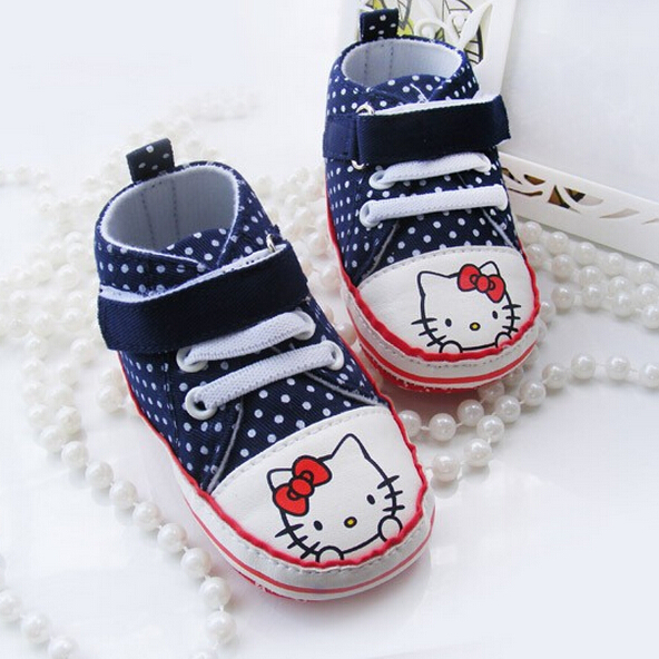 hello kitty baby shoes,new born baby first walker fashion girls shoes Free shipping(China (Mainland))