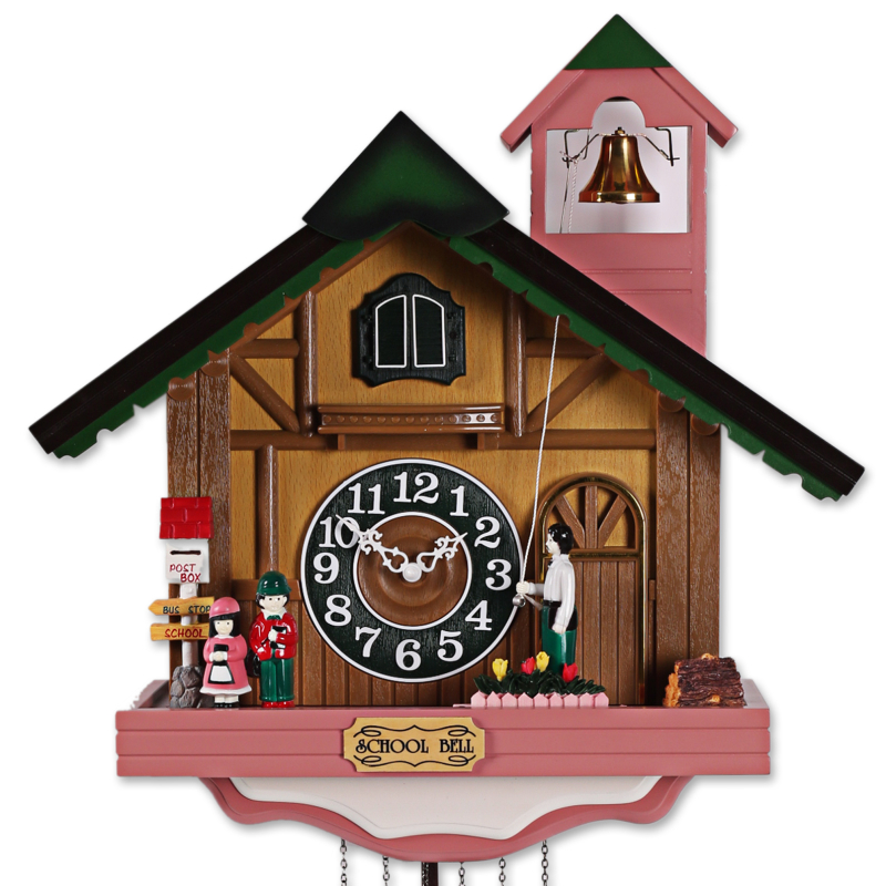 Fashion House Shape wall clock, rustic cuckoo clock,photoswitchable music bell time clock and watch-free shipping by EMS(China (Mainland))