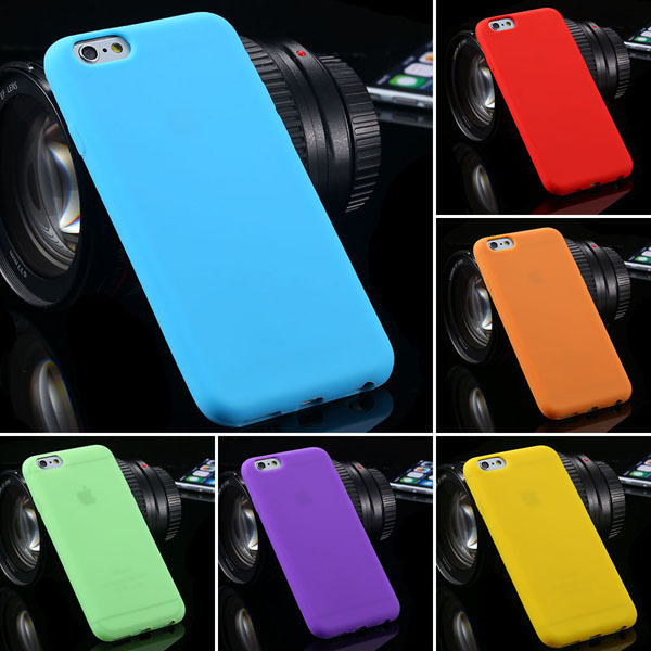 For iPhone 6 Plus Cases Fashion Candy Color Soft TPU Gel Armor Case For iPhone 6 Plus 5.5 inch Durable Dirt-resistant Cover AAA(China (Mainland))