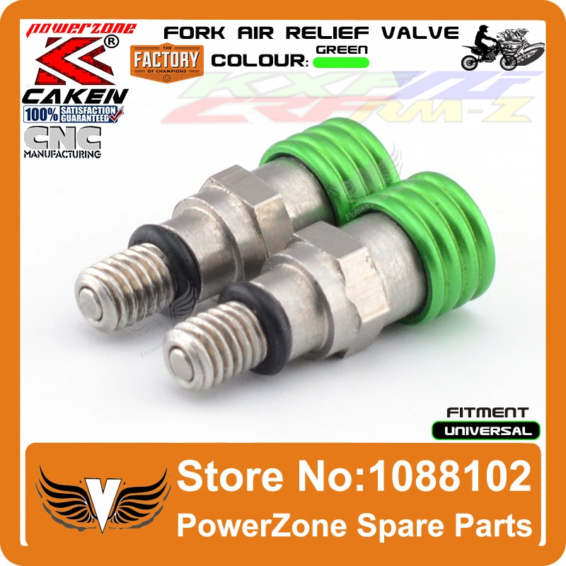 Fork Air Bleeder Relief Valve Green 4