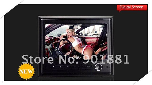 "2014 NEW Easy Installaion Interchangeable tablet 9"" Digtal screen headrest dvd FM AUX input 720P SD USB play 32 bit Native Games"