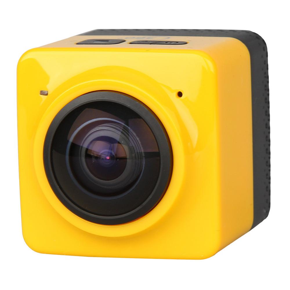 CUBE360 Mini Sports Action Camera 720P 360-degree Panoramic VR Camera Build-in WiFi