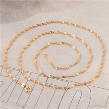 Wholesale Length : 600mm Classic 18K Yellow Gold Plated Women Twisted Water Wwave Chain Necklace No Nickel(China (Mainland))