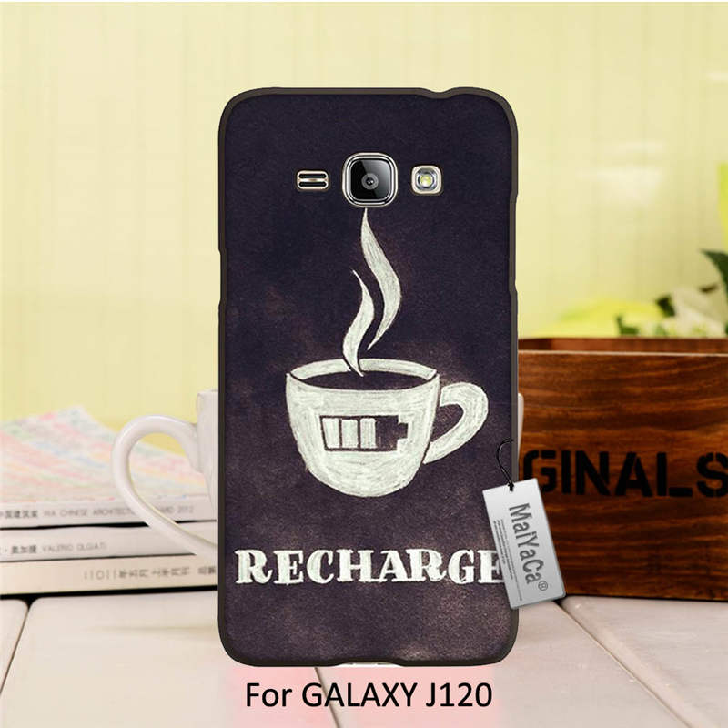 On Sale Luxury Cool Black Phone Accessories For ALAXY J1 2016 case Charge coffee low battery