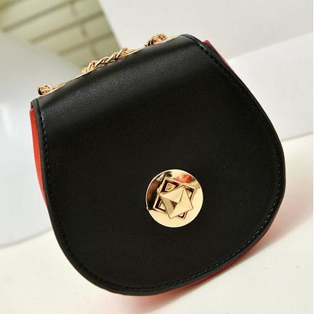 2015 new candy-chain shoulder bag small bag semicircle shaped handbags priced at wholesale(China (Mainland))