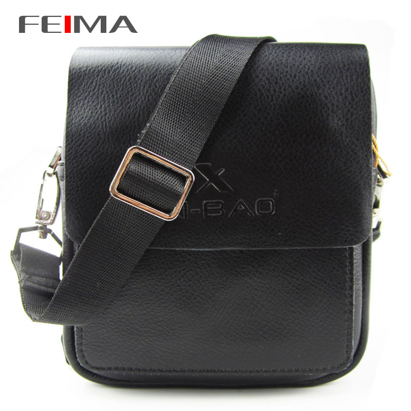 Hot Free Shipping Fashion Mens Boys Genuine Cow Leather Shoulder Bags Men Small Mini Casual Messenger Bag Black Color 151522<br><br>Aliexpress