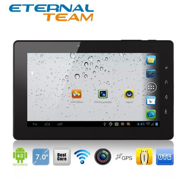 Freelander PD20 Great 7 inch GPS tablet pc Dual Core 1.2GHz Android 4.0 1GB RAM 8GB Dual Camera HDMI Car kits