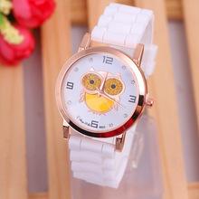 NEW Retro Silicone Watch Women Silicone Golden Owl Fashion Wristwatch  Reloj Para Dama Woman