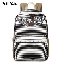 Canvas Bag Backpack for Girls Teenagers Cute Fresh Korean Backpack for Teens High Middle School Student Vintage Bohemian Style(China (Mainland))